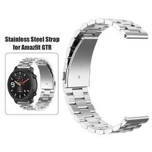 20mm Stainless Steel Strap Adjustable Watch Band for Amazfit GTR 42mm Watch