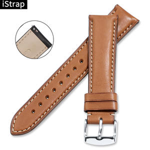 iStrap France calf leather Watch strap 18mm to 22mm Genuine leather Watch band with Silver Pin buckle For IWC For Omega Seiko