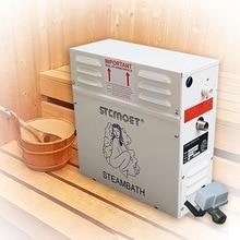 6KW Steam Generator Household Steam Machine With Digital Control Panel Sauna Dry Stream Furnace Wet Steam Steamer Shower Bath household steam shower intelligent steam generator