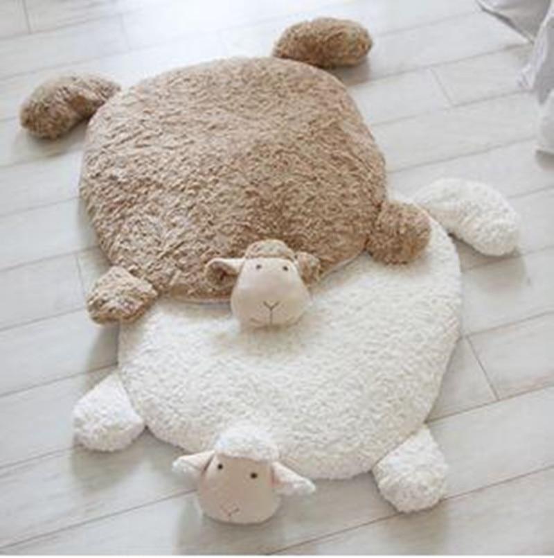 Ins Super Cute Sheep Creative Carpet Home Pet Cartoon Entry Pad Sofa Cushion Warm Foot Floor Mat Home Decor Gift For Friends