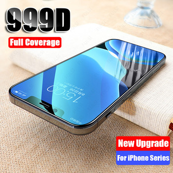 999D Full Cover Protective Glass on The For iPhone 7 8 6 6s Plus Tempered Screen Protector For iPhone 11 Pro X XR XS Max Glass