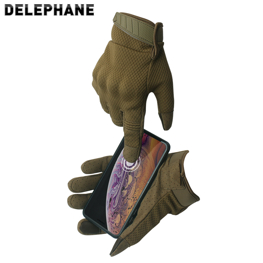 Winter Male Driving Gloves Men Adjustable Touch Screen Tactical Gloves Women Camouflage Full Finger Gloves For Cycling Riding