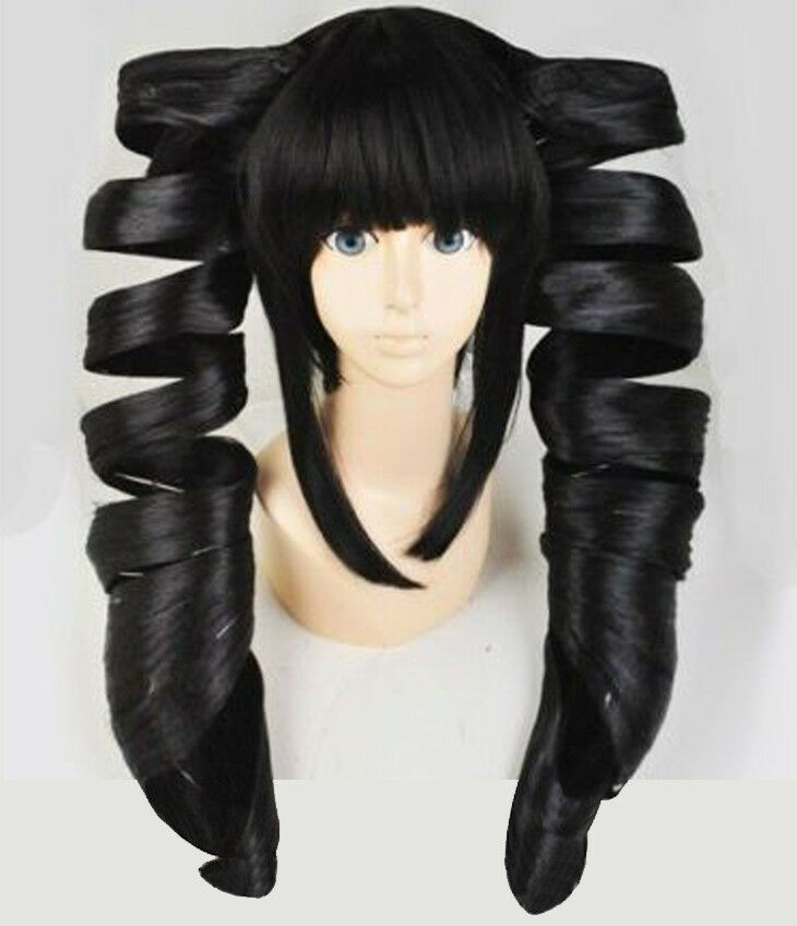 Celestia Ludenberg Wigs Styled Black Spiral Curl Cosplay Wig