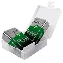 PALO 9v battery rechargeable 6F22 9V 300mah rechargeable battery batteria 9v Ni Mh