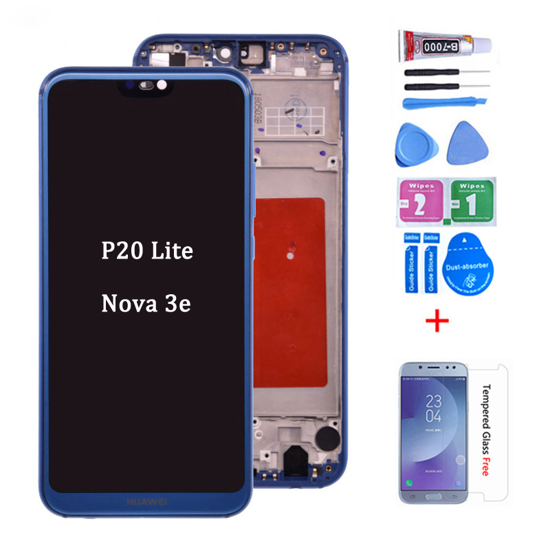 Original For HUAWEI P20 Lite Lcd Display Screen Touch Screen Pannel Digitizer Assembly ANE-LX1 ANE-LX3 Nova 3e LCD
