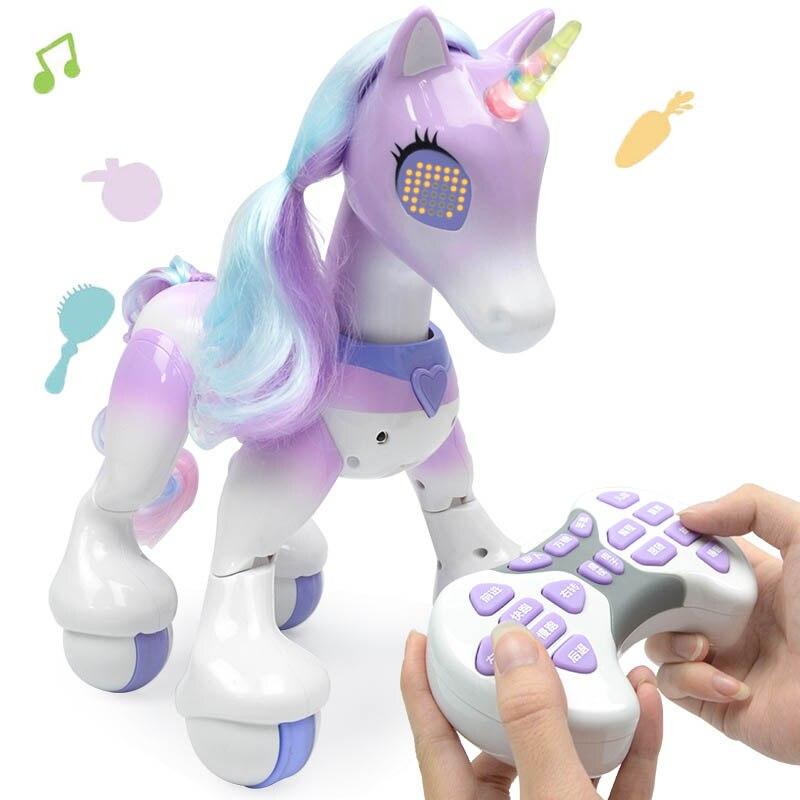 brinquedo de cavalo de estimacao inteligente eletrico unicornios criancas novo robo toque inducao eletronico animal estimacao