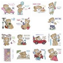 15 개/대 사랑 곰 3x4 inch 지우기 DIY Scrapbooking 공예 종이 카드 투명 Stempels 실리콘 인감 새로운