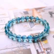 Натуральный драгоценный камень синяя флюоритовая Хрустальная