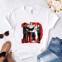 Moda t camisas femininas verão topos uma direção harajuku camisetas gráficas mulher tshirts femme estética 1d camiseta