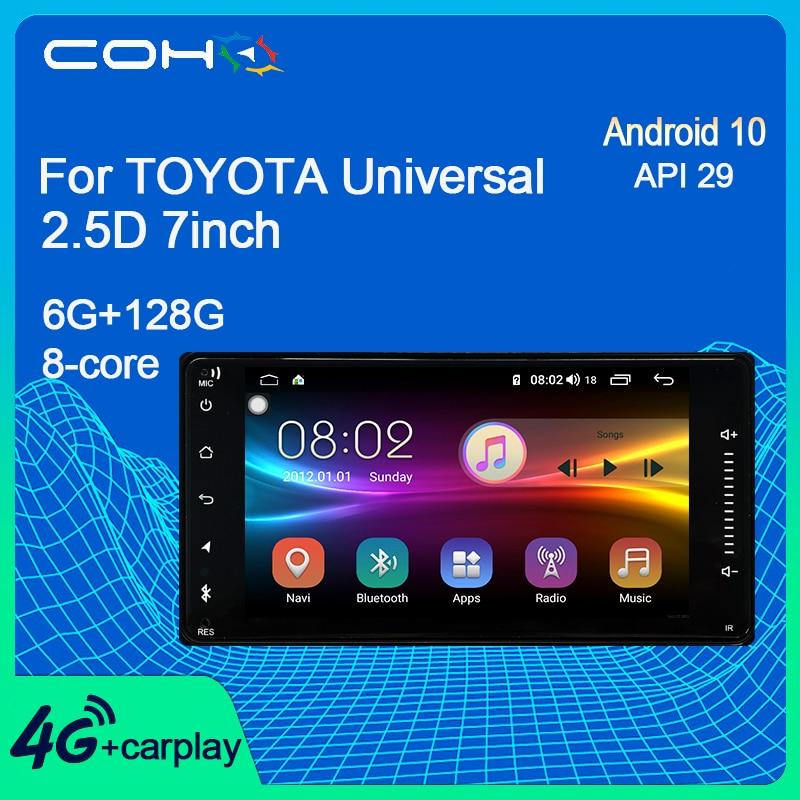 Автомобильный мультимедийный плеер COHO для TOYOTA, универсальный автомобильный мультимедийный плеер 2.5D 7 дюймов с Gps-навигацией, радио Coche, Android ...