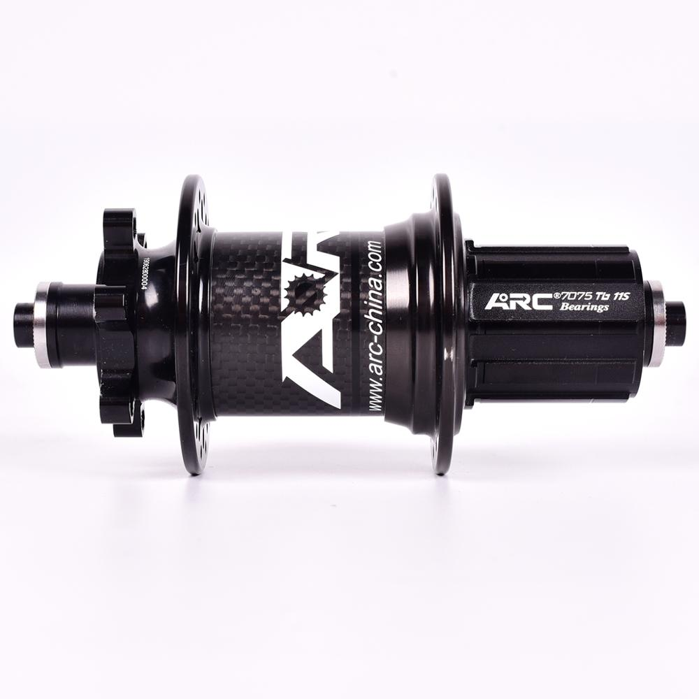 Image 5 - ARC Carbon Fiber MTB hub Mountain bike hubs 4 bearing 6 Pawls 114 Click 8 9 10 11 speed bicycle hub 135*10MM 142*12MM 32 Holes-in Bicycle Hubs from Sports & Entertainment