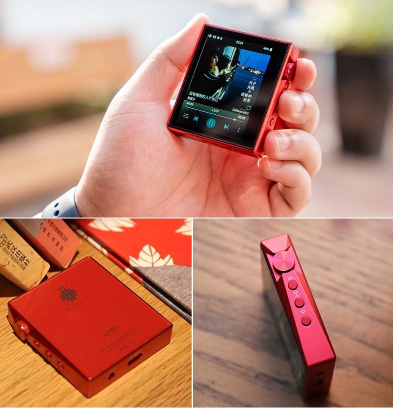 MP3-плееры Hidizs АП80 Привет-РЭС Bluetooth воспроизведения музыки MP3-плеер ES9218P поддерживает USB ЦАП с DSD 64/128 FM-радио HibyLink Флак скока