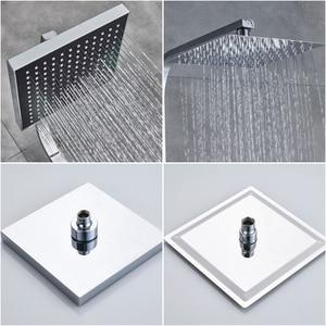 Image 3 - Rozinクロームシャワーキャビン蛇口セット浴室降雨シャワーミキサータオルスイベルスパウトバスシャワークレーンホットコールドミキサータップ