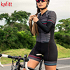 Kafitt triathlon terno conjuntos de camisa de ciclismo feminino uniforme manga longa skinsuit macacão macaquinho ciclismo feminino 8