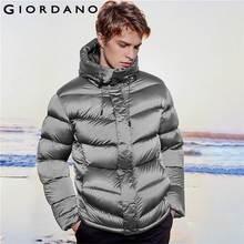 Giordano Men Down Coat Hooded 90% White Goose Down