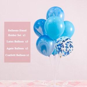 Image 4 - 7 buizen Ballonnen Standhouder Kolom Happy Birthday Party Decoraties Baby Jongen Meisje Eerste Een Jaar Confetti Benodigdheden Bruiloft
