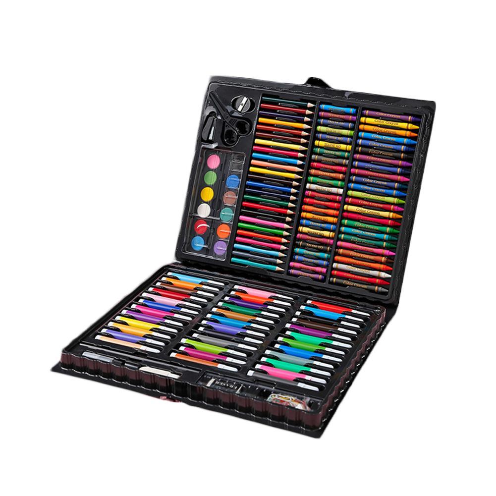 150pcs Children Kids Colored Pencils Children Painting Set Crayon Marker Pen Water Color Pens Drawing Tool Brush School Supplies