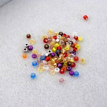 1.5 3mm cor misturada redonda espaçador semente contas de vidro para fazer jóias pulseira colar diy acessórios artesanal encontrar fornecimento