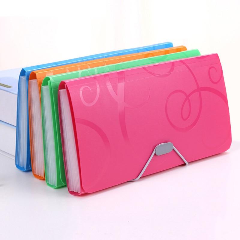 13 Grids A6 Organizer Box Clip File Folder Expanding Document Holder Portable Paper Organizer Document Case Bag Office Supplies