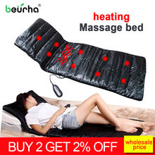 Health Care Device Electric massage bed infrared massage cushion massager mattress for back full body health relaxation tool