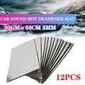 12 шт. 30x50 см 5 мм автомобильные звуконепроницаемые пенопластовые хлопковые изоляционные прокладки для дома звукопоглощающие хлопковые анти...