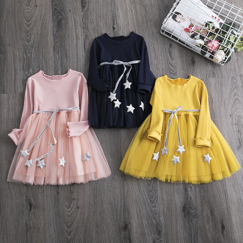 4 Colors Girls Summer Dress Casual Style Baby Girls Clothes Children Dresses Girls 2019 Cotton A-line Birthday Princess Dress