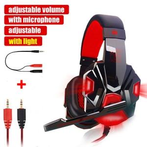 Image 5 - G2000 g9000 jogos fones de ouvido grandes com microfone luz estéreo graves profundos para computador portátil gamer ps4 novo X BOX