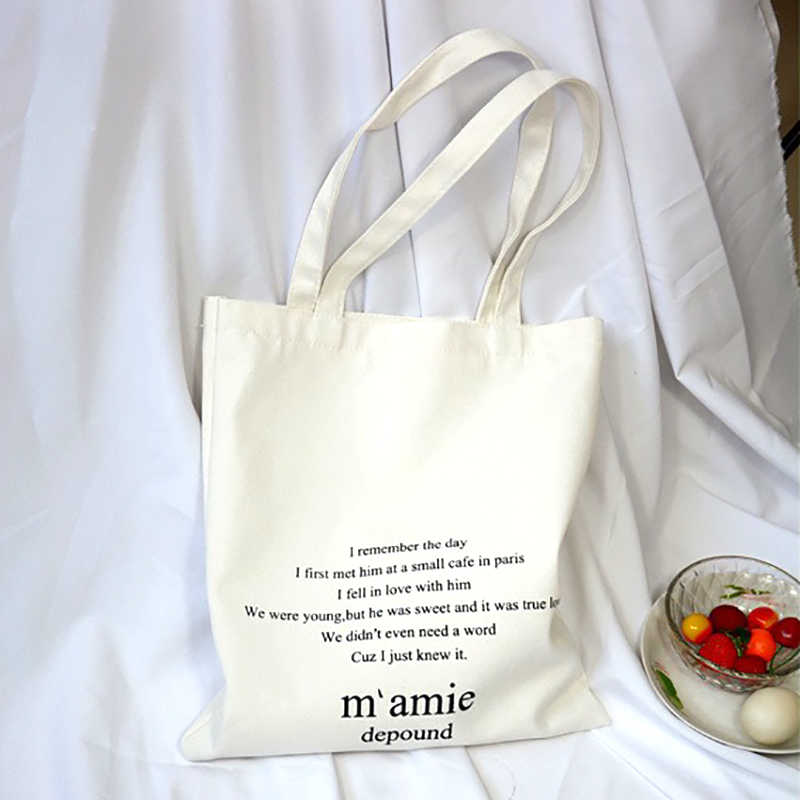 Canvas Tote Bags For Women Shopper Bag Cotton Bag Tote Bag Fashion Letter Shopping Bag Big Eco Bag Ecological Reusable Bags