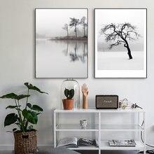 Минималистичные настенные художественные изображения с отражением
