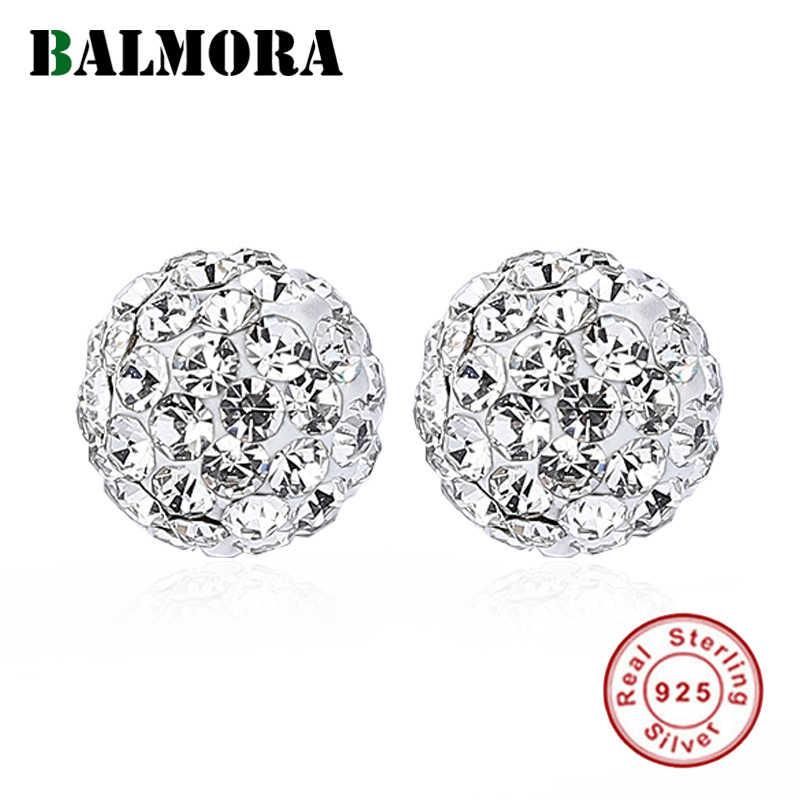 BALMORA ريال 925 فضة AAA الزركون الكلاسيكية أنيقة وأقراط للنساء زوجين سيدة خمر مجوهرات الأزياء بسيطة