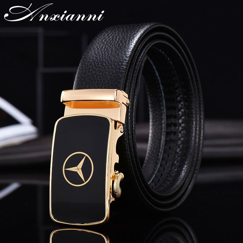 NEW Car Famous Brand Belt Men Top Quality Genuine Luxury Leather Belts Strap Male Luxury Men Belt Male Alloy Buckle
