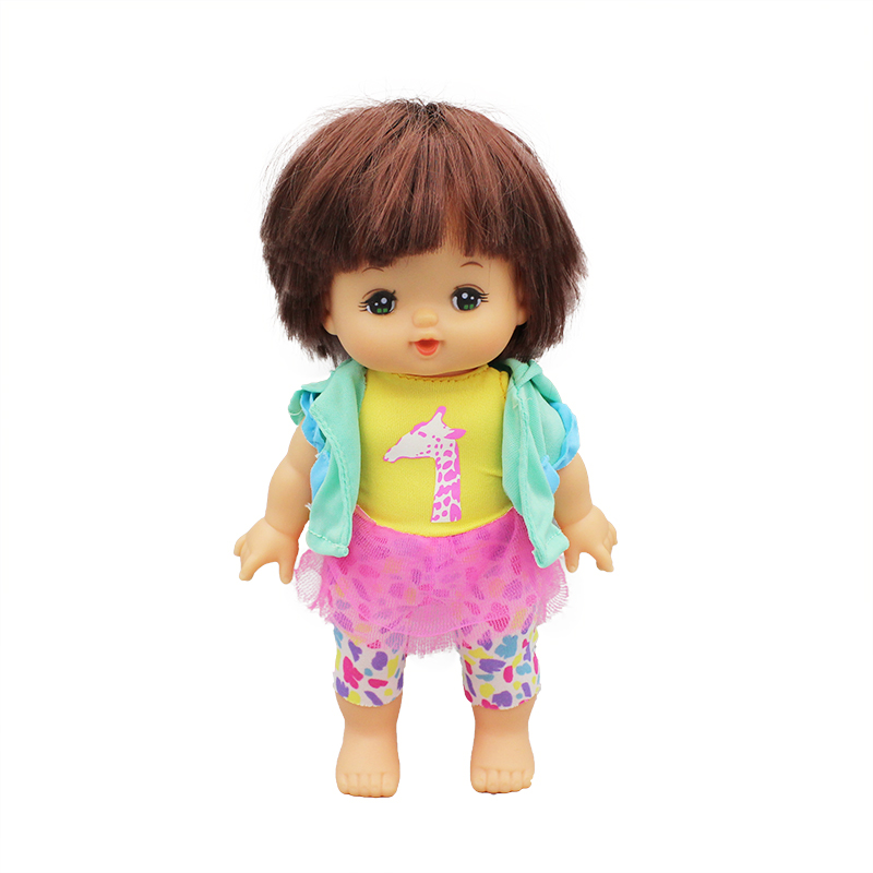 Dress+coat For 25cm Mellchan Baby Doll Clothes Doll Accessories