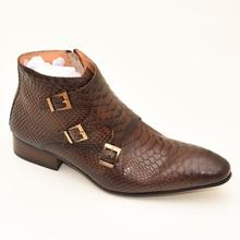 Mężczyźni ubierają skórzane podstawowe buty czarny kolor kawy Delux pasek z klamrą Zip kostki męskie szpiczasty nosek casual kostki sukienka Oxford buty tanie tanio DANIEL VIREA Prawdziwej skóry Skóra bydlęca ANKLE Stałe Bonded leather RUBBER Wiosna jesień Med (3 cm-5 cm) H219-w14