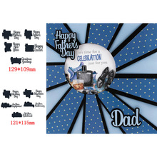 Popular Artistic Holiday Celebration Anniversary HAPPY FATHERS/MOTHERS WEDDING DAY Valentines Day Words Metal Cutting Dies For DIY Scrapbooking Paper Cards Embossing New Design 2019