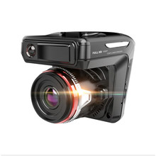 2 w 1 samochodowa kamera HD DVR wideorejestrator samochodowy w/ Radar laserowy Radar prędkości g-sensor wideorejestrator Dash Cam z wersja nocna