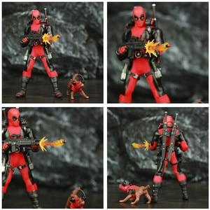"""Image 3 - One:12 Deadpool 6 """"Action Figureเสื้อผ้าผ้าชุดDead Pool Legendsสุนัข1/12 1:12ภาพยนตร์การ์ตูนของเล่นตุ๊กตา"""