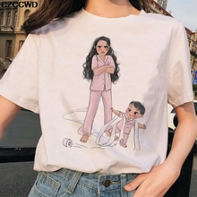 2020 summer new Super Mom T shirt Women Mother's Love Print White T-shirt Harajuku TShirt Vogue casu