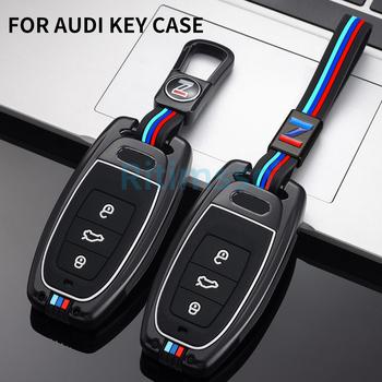 Obudowa kluczyka do samochodu nakładka na klucz torba dla Audi A1 A3 8v A4 B8 B9 A6 A5 C7 Q3 Q5 Q7 Tt Auto uchwyt na akcesoria Shell brelok chroń zestaw tanie i dobre opinie Ritimsso CN (pochodzenie) Ocynkowanej Stopu