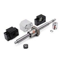 2 sztuk ballscrew SFU2505 397mm + wspornik końcowy bkbf20 + coulpings + osłona na nakrętki DSG25H do maszyny cnc