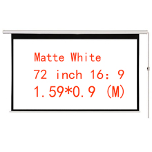 цена на Thinyou Matt White Projector Electric Screen 72 Inch 16:9 Motorized Projection Screen  With Remote for Home Cinema Business bar
