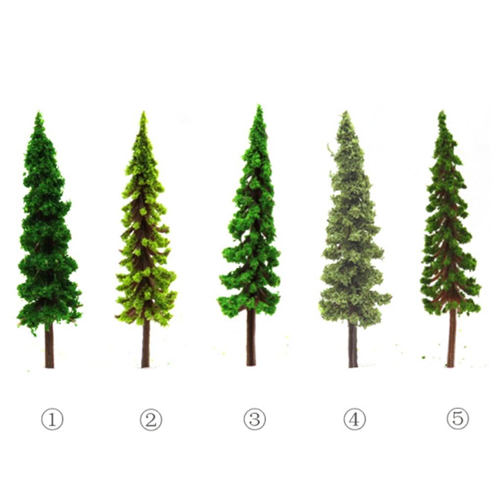 100pcs/lot Scale 4.3cm ABS High Quality Mini Model Plastic Trees For Railroad Train Building Layout