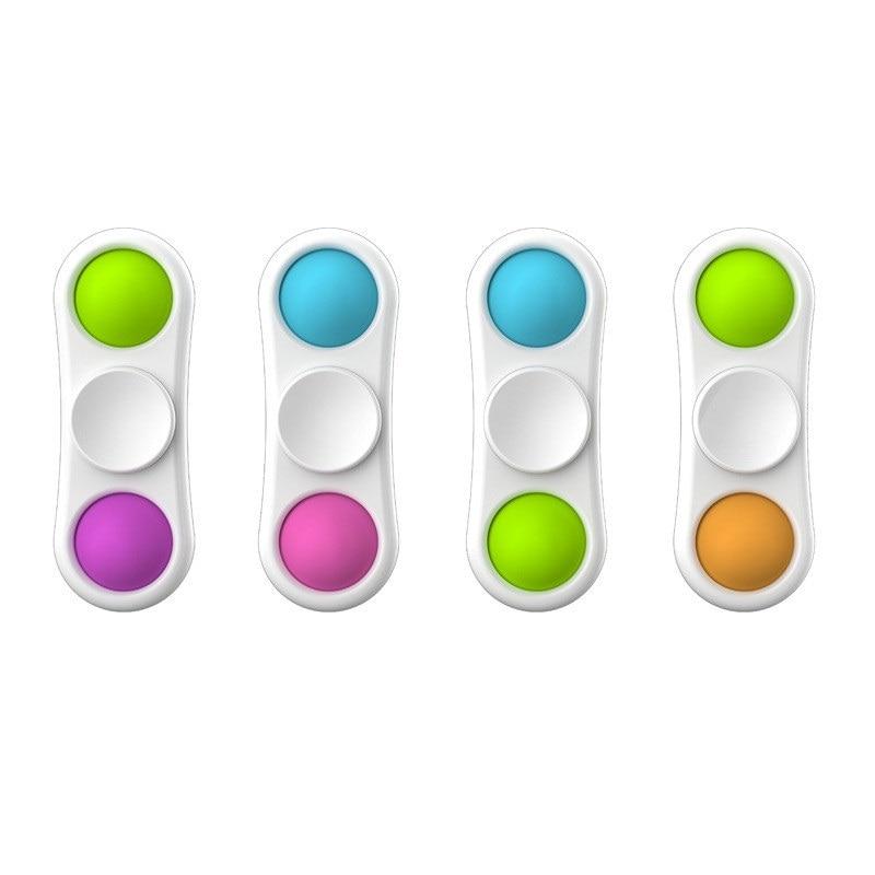 Push Pop Bubble Sensory Fidget Spinner Toy for Children Early Education Intelligence Development Training Anti Stress Finger Toy img3