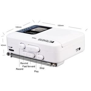 Image 5 - Retekess TR 606 נייד רדיו קלטת רדיו FM AM מגנטי קלטת קלטת השמעת קול מקליט 48cm אנטנת 3.5mm מיקרופון
