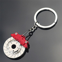 Cute Metal Auto Parts Disc Brake Shock absorber Keychain Hub Calipers Key Ring For Car Pendant Key Chain For Men Gift Trinkets