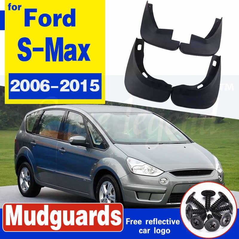 Calidad Superior Coche Ford S-Max de Universal de goma moldeada mudflaps Set Completo