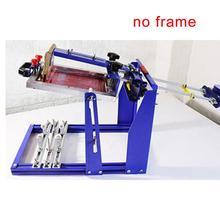Macchina da stampa manuale veloce del cilindro dello schermo di trasporto libero per la pressa della curva della superficie della bottiglia/tazza/penna