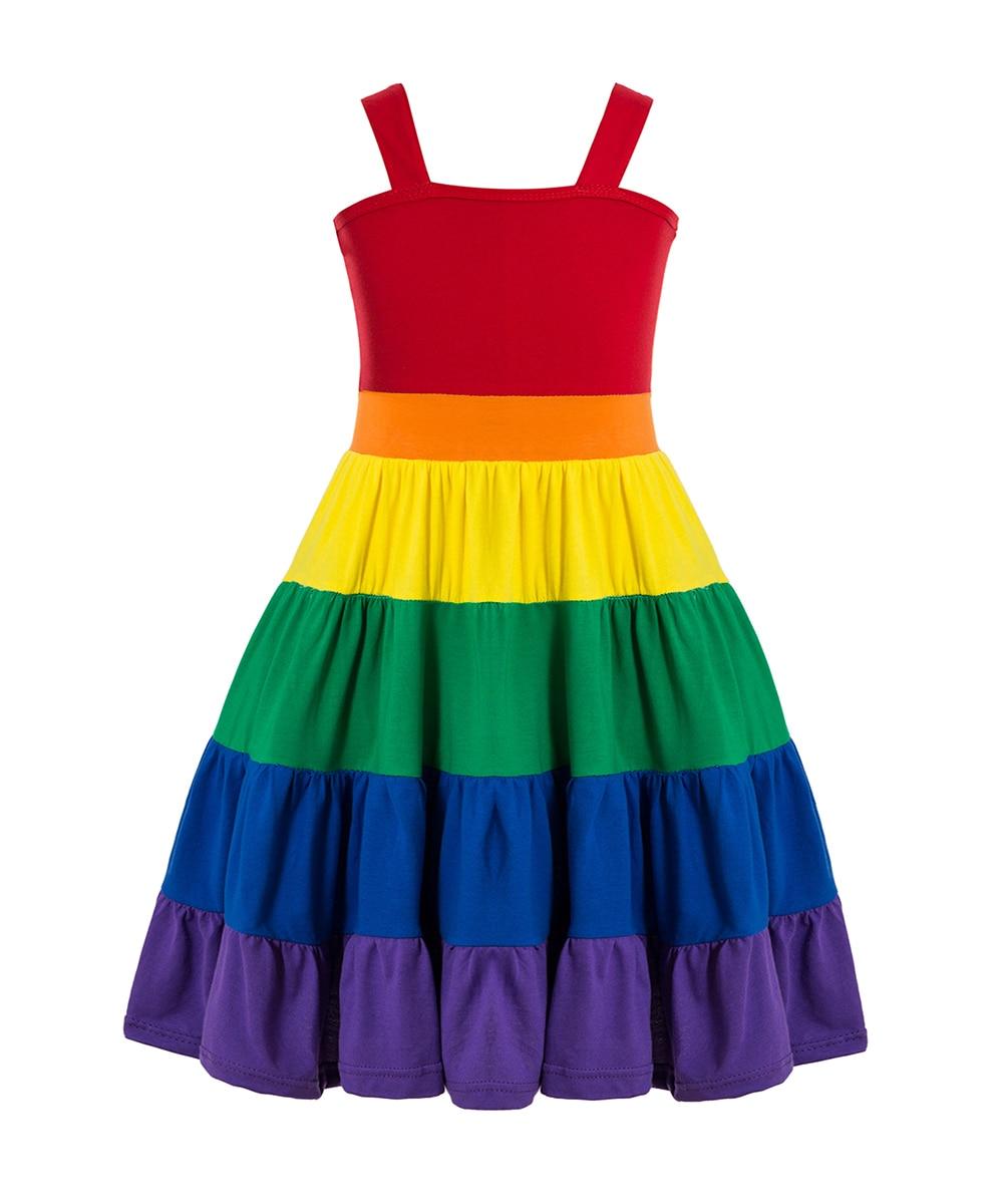 Rainbow Birthday Party Dress Jojo Siwa Tutu Dress Birthday Rainbow dress Girls rainbow twirl dress Party dress twirly dress 3