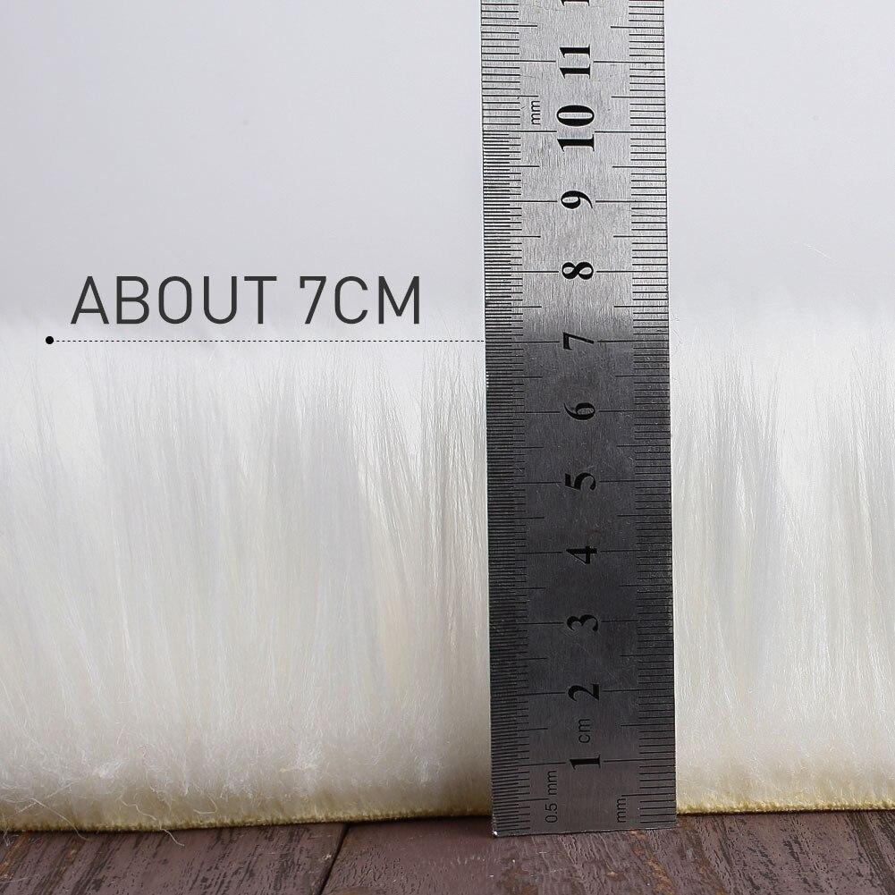 Tapis de laine multicolore étage maison chambre tapis moelleux luxueux forme irrégulière salle à manger tapis tapis plancher chaise décoration - 3