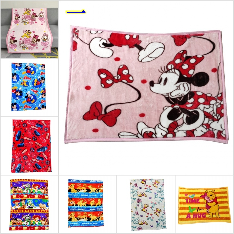 Disney Cartoon Cute Minnie Mickey Mouse Children Birthday Gift Soft Flannel Blankets Babies Swaddle Wrap 70x100cm For Kids Pet
