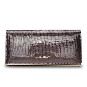 Image 5 - Beth Cat Women Genuine Leather Wallet Female Hasp Alligator Cowhide Long Wallet Cards Holder Clutch Bag Fashion Ladies Purses